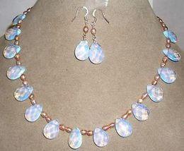 Серьги с бриллиантами онлайн-Розовый жемчуг / Шри-Ланка Лунный камень капли ожерелье серьги набор