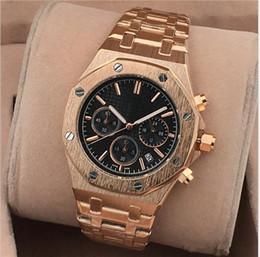 2019 montres mens cadran petit Tous les petits cadrans de travail des montres pour hommes en acier inoxydable de montres-bracelets à quartz de montre-chronographe montres mens cadran petit pas cher