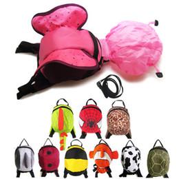 Wholesale Toddler Boy Animal Backpacks - Wholesale Animal Toddler School Bags Cartoon Childrens Hiking Backpacks baby Anti lost backpack boys girls Weekend Bag Satchel Bag A673