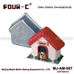 Wholesale Ceramic Form - Wholesale- High quality Dog House Aluminum Baking Dish Cake Baking Pans Cake Pan Form for Baking BakewareTools Cake Tools