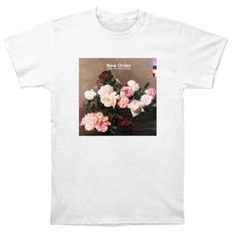 Wholesale Poster New Order - New Order Power Corruption and Lies T Shirt CD LP Vinyl Poster T Shirt New Short Sleeve Cotton T-Shirts Man Clothing