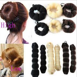 2019 pães quentes cabelo Venda quente 2 pcs Womes Diferentes Tamanhos Elegantes Estilo Mágico Acessórios de Cabelo Buns # T701 desconto pães quentes cabelo