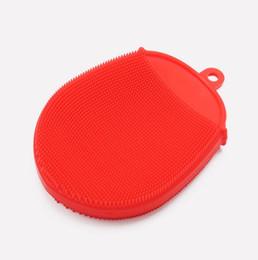 Lata limpa on-line-Escova de limpeza de pratos de lavagem de silicone Pode ser repetida uso Escova de limpeza de cozinha multi-função Lavar é poupar trabalho