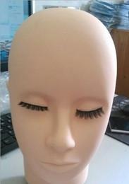 Wholesale Permanent Practice - 2017 New Practice head grafting eyelash soft silicone mannequin head fake head tattoo semi permanent dummy Model