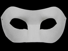 Wholesale Solid White Mask - Drawing Board Solid White DIY Zorro Paper Mask Blank mask for Schools Graduation Celebration Novelty Halloween Party masquerade mask wa3735