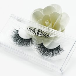 Wholesale Long Human Hair Eyelashes - Wholesale 3D Mink Hair False Eyelashes Handmade Natural Long Thick Mink Hair Eyelashes Soft Fake Eye Lash Black Terrier Full Strip Lashes