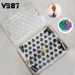 Wholesale Icing Nozzles Cake Decorating Tips - DIY 52Pcs Stainless Steel Icing Piping Nozzles Tool Pastry Cake Kitchen Baking Tools Sugarcraft Decorative Accessory