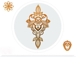 Wholesale Tattoos Ladies Legs - Factory direct India hot stickers, metal Hanna, Hanna tattoo stickers, lady affixed waterproof, durable can be customized