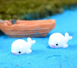 Wholesale Dolphin Ornament - 2017 new White dolphin dolphin doll moss micro - landscape ornaments resin Decoration crafts Decoration free shipping