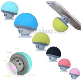 Wholesale Flat Mini Speakers - Cartoon Small Mushroom Head Bluetooth Speaker Small Sucker Creative mini Mobile Phone Flat Bracket Portable Outdoor Small Stereo
