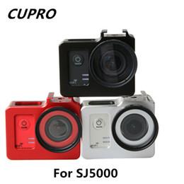 Wholesale Filter Case Hard - Wholesale- Sjcam Accessories Protective Aluminum Border Sj5000 Housing Shell Frame Case 40.5mm UV Filter Lens for SJ5000 SJ5000x Sj5000wifi