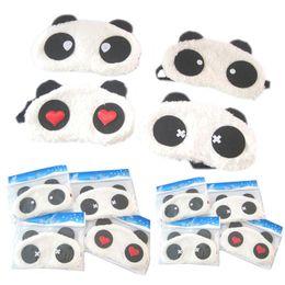 Wholesale Panda Sleeping - DHL FREE Cotton Plush Panda Goggles Sleep Mask Shading Moisture Remove Dark Circles Cartoon Eye goggles Improve Sleep Quality Moist Eyes