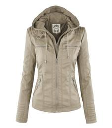 Wholesale Pu Leather Jackets Lady - Autumn Winter 6XL Plus Size Faux Leather Jacket Women Hooded Warm Long Sleeve Ladies Fashion PU Jacket