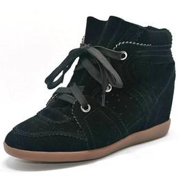 Bobby Zapatillas de deporte de moda Botas de mujer Zapatos de cuña Cuero genuino Aumento de altura 7 cm Botines Zapatos de mujer Zapatos casuales desde fabricantes