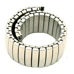 Wholesale Womens Watch Clasp - Wholesale-Silver 18mm Band Width Stainless Steel Expansion Wrist Watch Buckle Band Strap Mens Womens + 2 Spring Bars