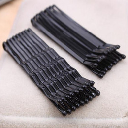 Wholesale Wholesale For Straight Pins - NEW ARRIVAL Black Invisible Hair Clips Wave Straight Pins Grips Barrette Popularity Simple Hairpin For Alloy Hair Accessories.500pcs\