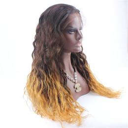 Deutschland 100% menschliches Haar Wellenförmige Lace Front Perücke Afroamerikaner Ombre Glueless 3 Tonne lange natürliche volle Spitzeperücke Menschenhaar Lace Front Perücke cheap african lace front wigs Versorgung