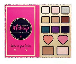 Wholesale Chocolate Shapes - 13 colors Too Hot Sale Faced Makeup Blush Heart Shape THE POWER OF MAKEUP Palette foundation make up chocolate bar