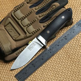 Wholesale Knives Leather Handles - INFINER Loveless A2 blade G10 handle fixed blade hunting knife Leather sheath tactical camping survival outdoors knives EDC tools