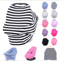 Wholesale Wholesale Used Infinity - Baby Car Seat Cover Canopy Multi-Use Nursing Cover Stretchy Infinity Scarf Breastfeeding Cart strollers Canopy cover KKA2500