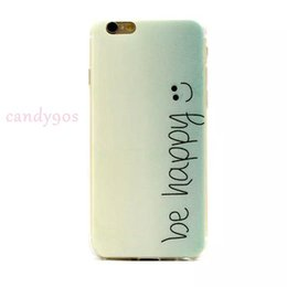 """Wholesale Iphone 5s Pictures - New style""""be happy""""""""smile""""Thin TPU soft case for iphone5 5s iphone6s 6 plus possitive picture"""