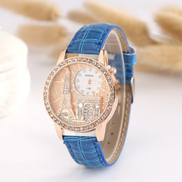 Wholesale Retro Eiffel Tower Glass - Hot style exquisite relief the Eiffel Tower set auger retro fashion lady's watch