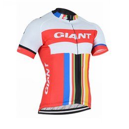 Wholesale Mtb Giant Bicycles - New Giant Team Men Cycling Clothing Bike jersey Bicycle Short Sleeve shirt Cycling Jersey summer quick dry mtb maillot ropa ciclismo A1303