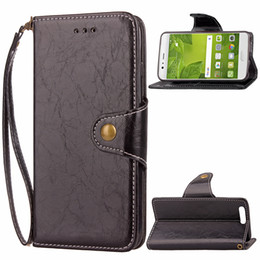 Wholesale Phone Cover Galaxy S4 - Magnetic Button Vintage Flip PU Leather Book Wallet Case with Strap for Samsung Galaxy S8 Plus S4 S5 S6 S7 Edge J3 A7 J5 Prime Phone Cover