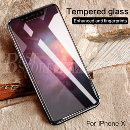 Wholesale nice screen - For iPhone X Tempered Glass Screen Protector Explosion Proof Nice Quality 2.5D 0.2mm Ship in 1 day