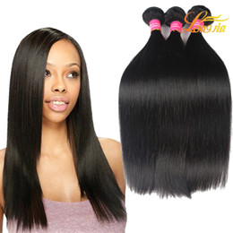 Wholesale 16 colours - Brazilian Straight Hair Mix Length Hot Sale Longjia Products Dream Hair Dyeable Natural Colour Straight Weave weft Silky 7A Grade Hair