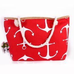 4e6980ec4f anchor beach bags UK - Women Ladies Fashion Boat Anchor Canvas Shoulder Bag  Stripes New Messenger