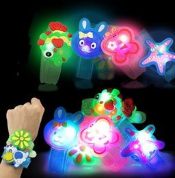 Wholesale Hot Selling Toys Wholesale - 2017 HOTTEST Creative Cartoon LED Watch flash Wrist bracelet light small gifts children toys wholesale stall selling goods Christmas toys
