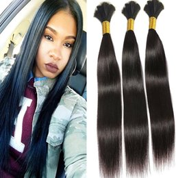 Wholesale Wholesale Natural Hair Supplies - Best 10A 100% Unprocessed human Brazilian Peruvian Malaysian Indian Straight Human Hair Bulks Salon Supply Tangle Free Can Bleach Color