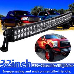 Wholesale Super 4x4 Off Road Lights - 33 inch 180W Super Bright LED Off-road Light Bar Curved LED Work Light Bar Spot Flood Combo Beam Truck Jeep Ford Trailer 4x4 ATV IP67 Lamp