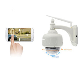 Wholesale Ip Cameras Dome - C7833WIP X4 Outdoor 720P HD Wireless PTZ Dome IP Camera 4X Zoom CCTV Security Video Network Surveillance IP Camera Wifi ann