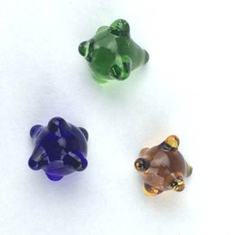 Pantallas de vidrio para tubos online-Sea Mine Glass Screens Colores surtidos 6 mm 8 mm 10 mm de alta calidad Glass Fliter pantalla para vidrio Bong Water Pipes