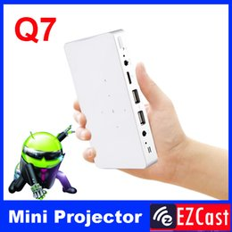 Wholesale Android Tablet Phone Battery - Wholesale- Pico pocket battery 200ANSI mini micro Portable android 4.2 DLNA Miracast HD 3LED DLP video projector for Android phone tablet