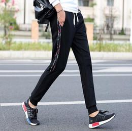 Wholesale Thick Harem Pants - Men's Jogger Pants Elastic Waist Sweatpants Casual Harem Pants Side Double Stripes Trousers Velvet Thick Drawstring Sports Long Pants BGT