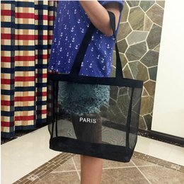 Wholesale Wholesale Designers Bags - Free DHL Fashion Ladies Transparent Mesh Shoulder Bags Designer Brand Women Luxury Shopping Handbags Party Bags