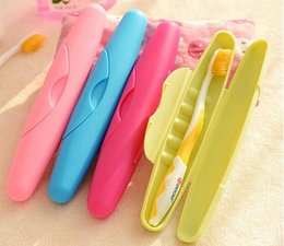 Wholesale Travel Toothbrush Covers - Toothbrush Holder BathRoom Accessories Toothbrush Case Holder Camping Portable Cover Travel Hiking Box