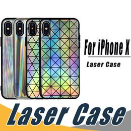 Canada Étui brillant de mode laser arc en ciel étincelant cas tpu souple de Felxible couverture pour iPhone X 8 7 6 6 s plus Offre