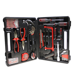 Wholesale Wholesale Box Hardware - 32Pcs Set Assembly Tools Hardware Repairing Tools Cars Travel Tool Portable Tool Box High Grade Tools Kits 39*36*56.5Cm