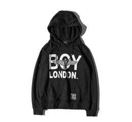 Wholesale British Coupling - British Style Eagle New Letter Boy LOGO Terrier Hooded Sweater Hip Hop Hoodie Couple Coat Eagle Hooded Sweater