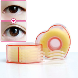 Wholesale Clear Double Eyelid Tape - Wholesale- 300pcs Makeup Clear Eyelid Stripe Big Eyes Invisible Double Fold Eyelid Shadow Sticker Double Eyelid Tape Beauty Tools C1554P20