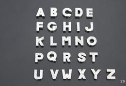 Wholesale Slide Alphabets - 130pcs lot 8mm A-Z full rhinestones bling slide letters DIY Alphabet accessories fit for 8mm leather bracelet wristband