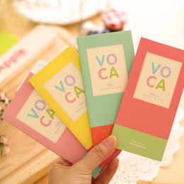 Wholesale Wholesale English Books - Wholesale- TIAMECH 1Pcs New Sweet Candy Color Block Long Design Vocabulary The English Notebook Book H0284