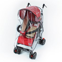Wholesale rain cover baby - Universal Strollers Pushchairs Baby Carriage Waterproof and Durable Rain Cover Wind Shield