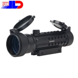 Wholesale Picatinny Green - Hunting rifle red dot Sight Scopes red and green Illuminuted and three Picatinny rail Dovetail Weaver on one mount Free shipping