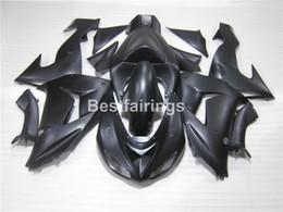 Wholesale matte black fairings - Free customize fairing kit for Kawasaki Ninja ZX10R 06 07 matte black fairings set ZX10R 2006 2007 IU31