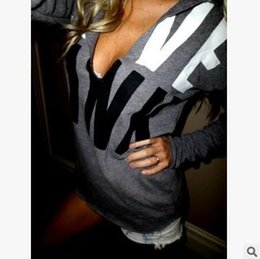 Wholesale Love Print Long Sleeve Shirt - Fashion LOVE PINK printed long sleeve T-shirt girl